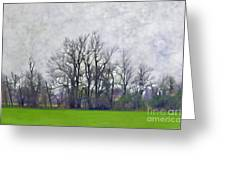 Early Spring Landscape  Digital Paint Greeting Card