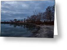 Early Still And Transparent - On The Shores Of Lake Ontario In Toronto Greeting Card