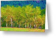 Early Summer Aspen Greeting Card