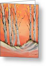 Early Winter Aspen Greeting Card