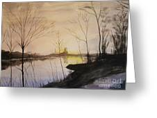 Early Winter Riverside Greeting Card