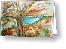 Early Winter Tree Greeting Card