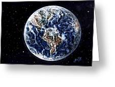 Earth Beauty Original Acrylic Painting Greeting Card