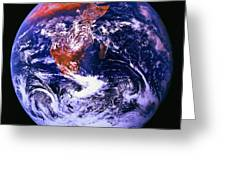 Earth From Space Centered On East Africa Greeting Card