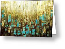 Abstract Geometric Mid Century Modern Art Greeting Card