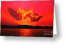 Earth Sunset Greeting Card