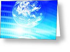 Earth Technology Background Greeting Card by Michal Bednarek