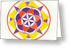 Earth Temple Mandala Greeting Card