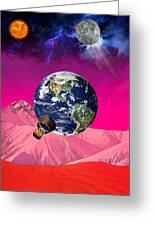 Earth To Mars Greeting Card