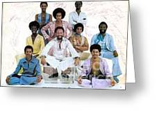 Earth Wind And Fire Autographed Photo Of Group Greeting Card