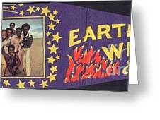 Earth Wind Fire Pennant 1970s Greeting Card