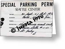 Earth Wind Fire Seattle Parking Permit Greeting Card