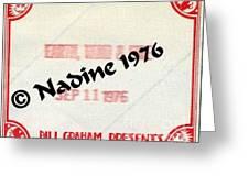 Earth Wind Fire Spirit Tour 1976 Crew Pass  Greeting Card