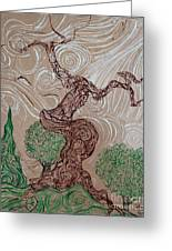 Earthen Tree Greeting Card