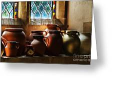 Earthenware Pots Greeting Card