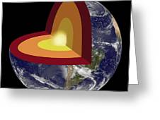 Earths Core, Illustration Greeting Card