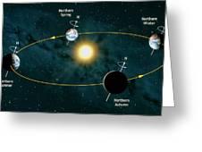 Earth's Orbit Showing Seasons Greeting Card