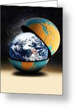 Earths Protective Cover Greeting Card
