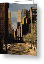 East 42nd Street Greeting Card