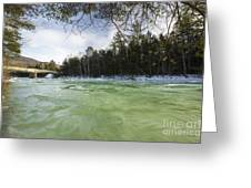 East Branch Of The Pemigewasset River - Lincoln New Hampshire Usa Greeting Card