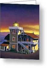 East Brother Lighthouse Greeting Card
