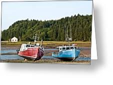 East Coast Low Tide Scene Greeting Card
