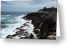 East Coast Shore Line Greeting Card