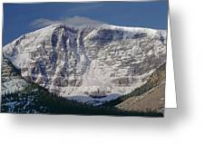 1m3743-east Face Mt. Kitchener With Cloud Greeting Card