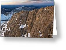 East From Mt. Evans Greeting Card