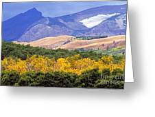 East Glacier Fall Greeting Card