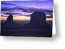 East Mitten And Merrick Butte Greeting Card