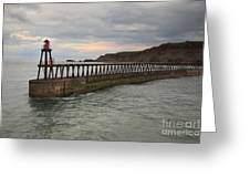 East Pier Whitby Greeting Card