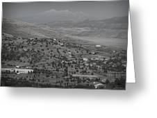 East Prescott Black And White Greeting Card