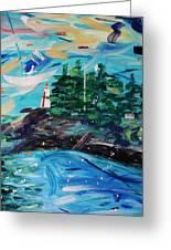 Campobello Lighthouse Abstract Greeting Card