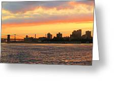 East River At Sunrise Greeting Card