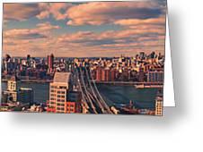 East River Bridges Greeting Card