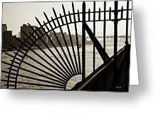 East River Spoke - New York City Greeting Card