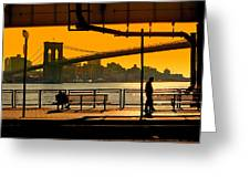 East River Sunset Greeting Card