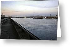 East River Vista 1 - Nyc Greeting Card