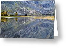 East Rosebud Lake Fall Panorama Greeting Card by Roger Snyder