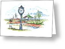 East Tawas Harbor Park Greeting Card