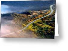 East Topanga Fire Road Greeting Card by Catherine Natalia  Roche