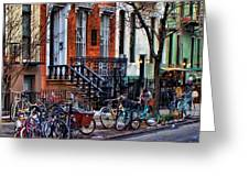 East Village Bicycles Greeting Card