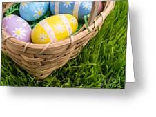 Easter Basket Greeting Card by Edward Fielding