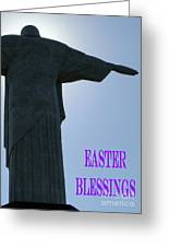 Easter Blessings Card Greeting Card