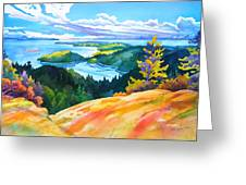 Easter Bluff View Greeting Card