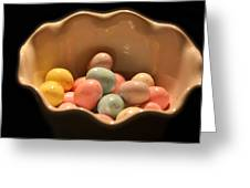 Easter Candy Malted Milk Balls I Greeting Card