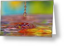 Easter Drop Water  Greeting Card