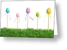 Easter Eggs In Grass Greeting Card