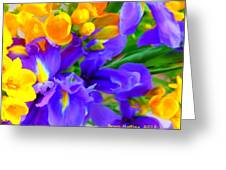 Easter Flowers Greeting Card